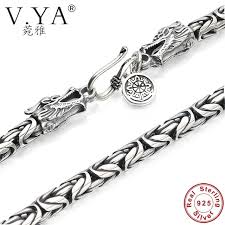 silver necklace clasp images V ya s925 men 39 s chains 925 sterling silver necklace men dragon jpg