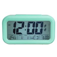king do way digital alarm clock battery operated with dual alarm