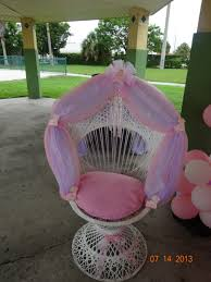 Bath And Shower Chairs Decorated Wicker Baby Shower Chair By Vivian Lopez Pinteres
