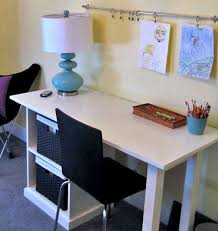 Small Desk Top White Modular Office Small Desktop Diy Projects