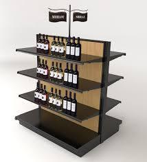 liquor store gondola shelving wood wine display ideas