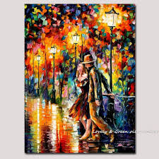 modern wall art home decoration lover chatting palette knife oil