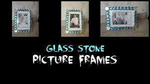 dollar tree crafts glass stone picture frames home decor diy