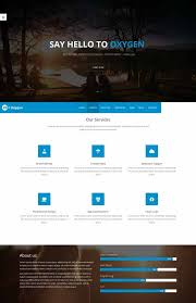 oxygen free bootstrap one page template website layouts