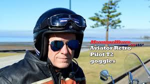 aviator retro pilot t2 goggles youtube
