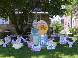 Birthday Lawn Decorations Birthday Lawn Signs By Front Yard Smiles 813 777 7185 Tampa Fl