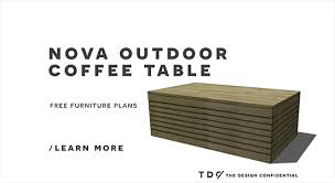Wood Coffee Table Plans Free by Free Diy Furniture Plans How To Build Easy Outdoor Furniture With