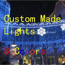 custom led string lights wholesale warm white 10x4m 1280 led curtain light string christmas