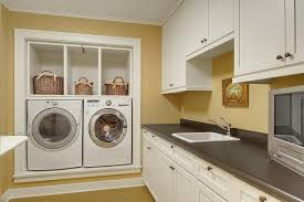 built in washer and dryer ideas laundry room traditional with