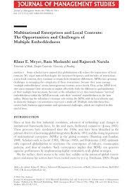 Universities As Multinational Enterprises The Multinational Multinational Enterprises And Local Pdf Available