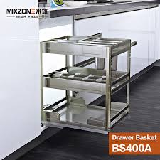 pull out basket organizer stainless steel kitchen cabinet