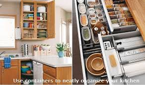 organizing the kitchen use containers to neatly organize your kitchen