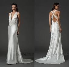 2015latest design ladies wear elegant white satin low cut