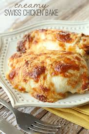 Baked Chicken Breast Dinner Ideas Check Out Creamy Swiss Chicken Bake It U0027s So Easy To Make Swiss