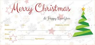 christmas certificates templates for word happy christmas gift