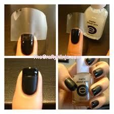matte nails and glossy french manicure tutorial thecraftyninja