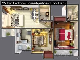 Two Bedroom House Plans by 25 Two Bedroom House Or Apartment Floor Plans Youtube