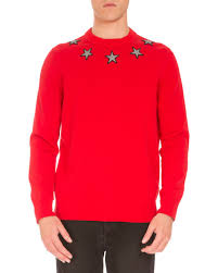givenchy sweater givenchy embroidered crewneck sweater neiman