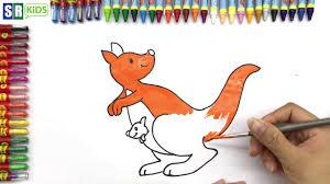 how to draw kangaroo creativity for kids with kangaroo coloring
