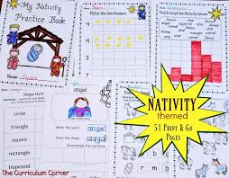 nativity themed print go pages the kinder corner