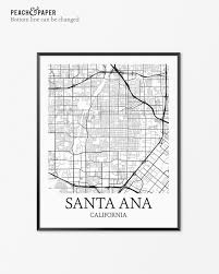 santa ana map art print santa ana poster map of santa ana