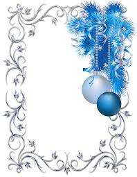 silver and blue ornament frame cards boxes and other