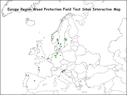 Interactive Europe Map by International Research Group On Wood Protection