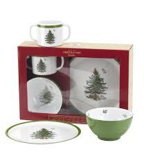 spode christmas tree children s 3 piece melamine dinnerware set