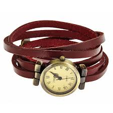 leather wrap bracelet watches images Leather wrap watch deep red