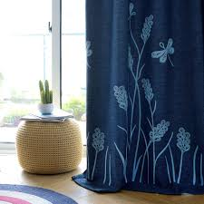 Curtains For Bedroom Amazon Com Melodieux Wheat Embroidery Linen Finishing Window