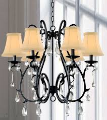 Candle Chandelier Pottery Barn Iron And Crystal Chandelier Look 4 Less And Steals And Deals