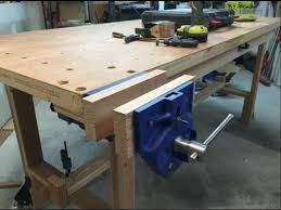 Woodworking Bench Vise Installation by Bench Vise And Bench Dogs Youtube