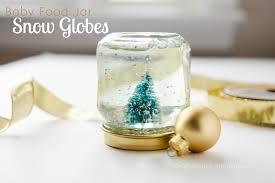 craftaholics anonymous baby food jar snow globes tutorial