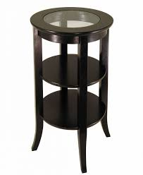 round glass side table elegant round glass side table accent and mirror set black metal