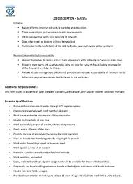 Assistant Manager Job Description Resume by Barista Job Description Resume Berathen Com