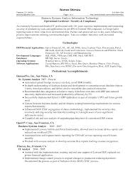 Sample Resumes Pdf Free Downlad Resume Template Sample For Business Systems Analyst