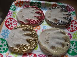 the remodeled diy salt dough print ornaments