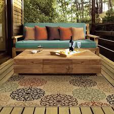 Outdoor Area Rugs For Decks Threadbind Bradley Bisque Beige Indoor Outdoor Area Rug