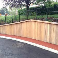 timber retaining wall system woodscape