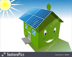clean energy solar house stock illustration i3064836 at featurepics