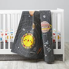 space crib bedding 3 set the land of nod
