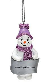 snowman christmas tree lilac glittered snowman christmas tree decoration anyname
