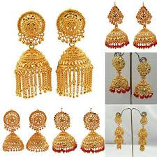 gold earrings for women jwellmart indian gold plated traditional ethnic jhumka jhumki
