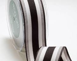 black and white striped ribbon black stripe ribbon etsy
