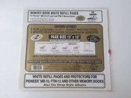 pioneer scrapbook refills pioneer 12 x 12 white memory book scrapbook refill pages vinyl