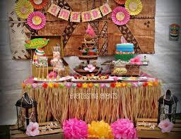 Birthday Candy Buffet Ideas by Luau Hawaiian Birthday