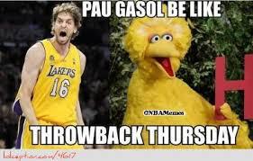 Funny Basketball Meme - pau gasol s post yesterday http weheartchicagobulls com nba