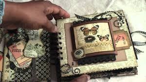 scrapbooking vintage paperbag mini album scrapbook albums