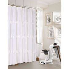 Shower Curtain With Pockets Shower Curtains Shower Accessories The Home Depot