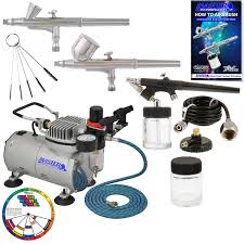 master airbrush professional 3 airbrush kit with compressor and